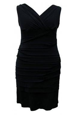 Společenské šaty pro plnoštíhlé Vera černé