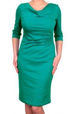 Společenské šaty Camilla modrozelené