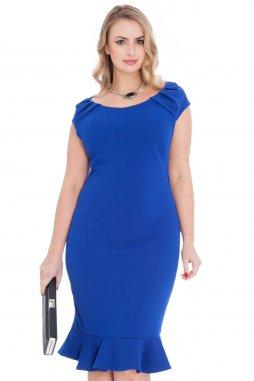Společenské šaty pro plnoštíhlé Birdie modré