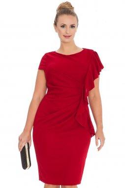 Společenské šaty pro plnoštíhlé Shantel červené