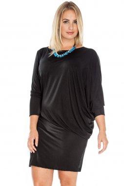 Společenské šaty pro plnoštíhlé Mirella černé