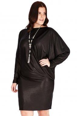 Společenské šaty pro plnoštíhlé Mirella II černé