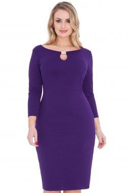 Společenské šaty pro plnoštíhlé Paulina fialové