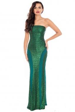 333574019e9 Luxusní plesové šaty Cameron smaragdově zelené Akce