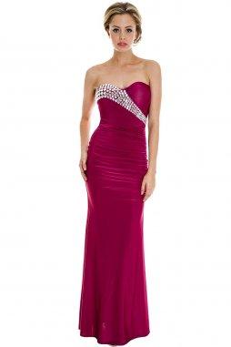 Luxusní plesové šaty Berry fuchsiové