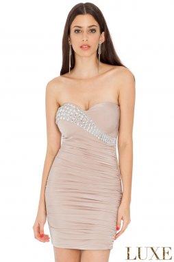 Společenské šaty Berry II béžové