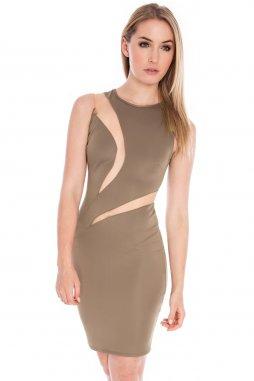 Společenské šaty Lexie světle hnědé