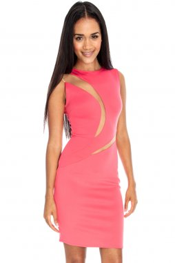 Společenské šaty Lexie lososové