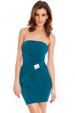 Společenské šaty Shavon modrozelené