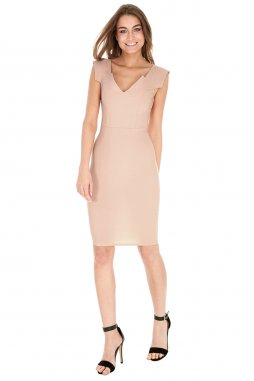 Společenské šaty Isidra pudrové
