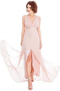 Plesové šaty Liberty světle béžové