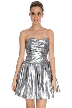 Společenské šaty Ivey stříbrné
