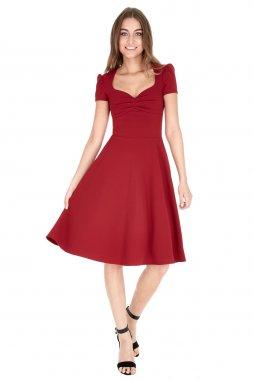 Společenské šaty Darnell vínově červené