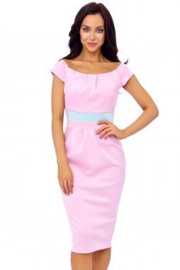 Společenské šaty Shalon světle růžové