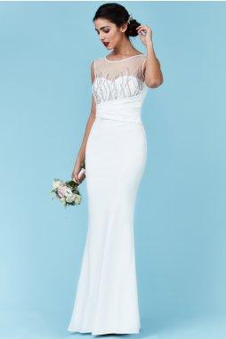 Luxusní svatební šaty pro plnoštíhlé Vernetta bílé