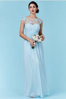 Luxusní společenské šaty Floretta světle modré