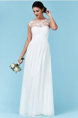 Luxusní svatební šaty pro plnoštíhlé Floretta bílé