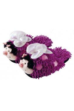 Plyšové bačkory motýlci fialoví
