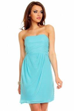 Společenské šaty Blanch azurové
