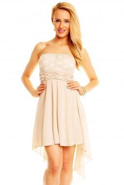 Společenské šaty Winona béžové