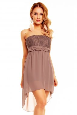 Společenské šaty Winona hnědé