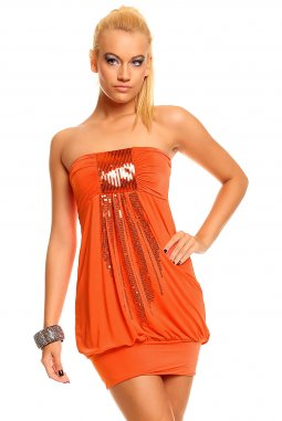 Šaty Summer oranžové