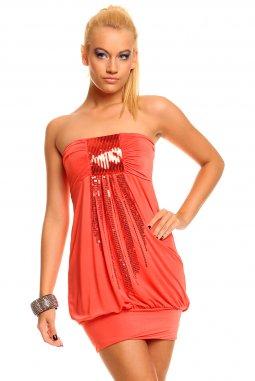 Šaty Summer lososové