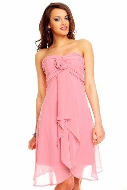 Plesové šaty Virgie světle růžové