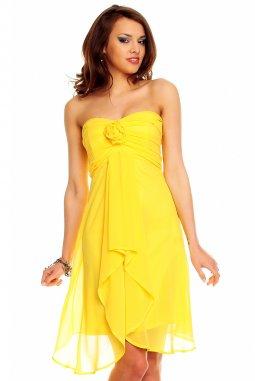 Plesové šaty Virgie žluté