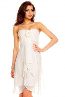 Plesové šaty Virgie světle béžové