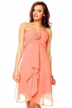 Plesové šaty Virgie lososové