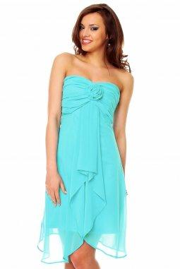 Plesové šaty Virgie azurové