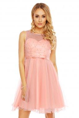 Společenské šaty Karen světle růžové