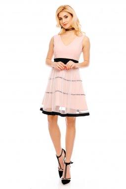 Společenské šaty Demi pudrové