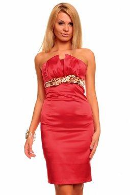 Společenské šaty Tara červené