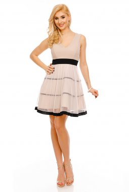 Společenské šaty Demi béžové