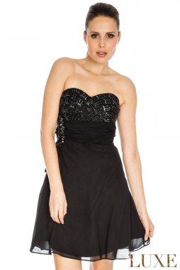 Plesové šaty Stefani černé