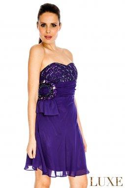 Plesové šaty Stefani fialové