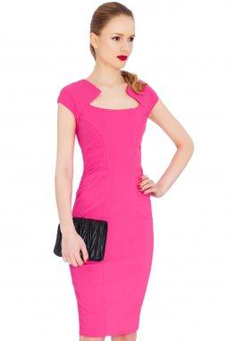 Společenské šaty Letty fuchsiové