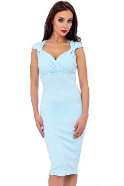 Společenské šaty Celsa světle modré