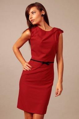 Společenské šaty pro plnoštíhlé Amada červené