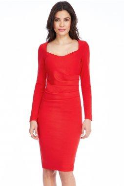 906339534c2 Společenské šaty pro plnoštíhlé Aleen červené Akce