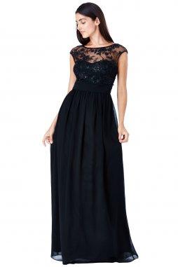 Luxusní společenské šaty Floretta černé