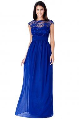 Luxusní svatební šaty pro plnoštíhlé Floretta modré
