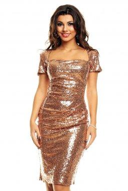 Plesové šaty Dallas bronzové