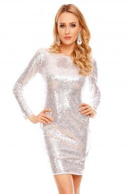 Plesové šaty Starla II stříbrné