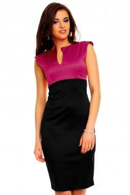 Společenské šaty Darlene fialovo-černé