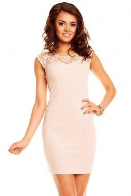 Společenské šaty Hettie světle béžové 39ee86f6d3