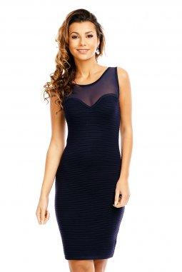 Společenské šaty Tianna tmavě modré