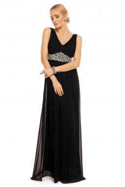 Dlouhé plesové šaty Simonette černé
